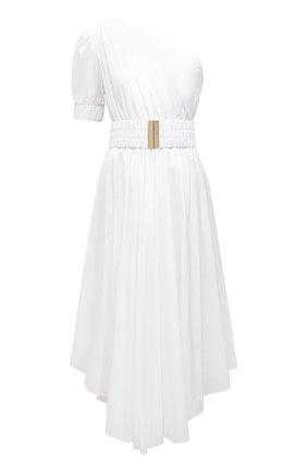 Женское хлопковое платье MICHAEL MICHAEL KORS белого цвета, арт. MS1800NF4C | Фото 1