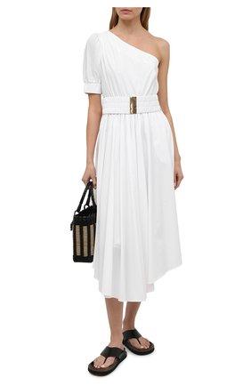 Женское хлопковое платье MICHAEL MICHAEL KORS белого цвета, арт. MS1800NF4C | Фото 2