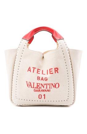 Женский сумка atelier VALENTINO бежевого цвета, арт. VW0B0H86/NIZ | Фото 1