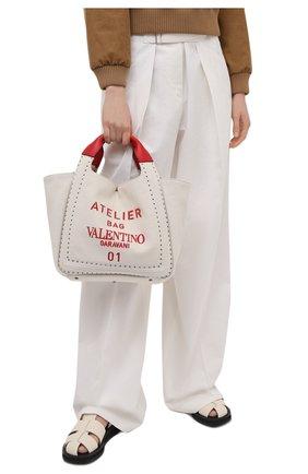 Женский сумка atelier VALENTINO бежевого цвета, арт. VW0B0H86/NIZ | Фото 2