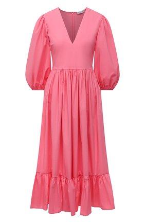 Женское хлопковое платье REDVALENTINO светло-розового цвета, арт. VR0VAAU0/0VU   Фото 1