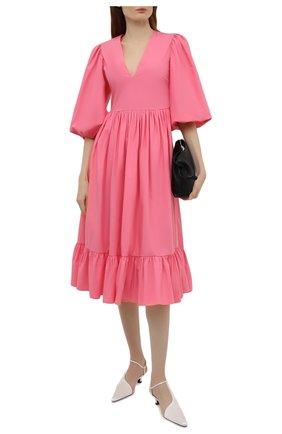 Женское хлопковое платье REDVALENTINO светло-розового цвета, арт. VR0VAAU0/0VU   Фото 2