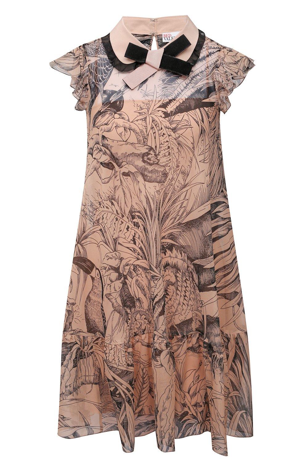 Женское шелковое платье REDVALENTINO разноцветного цвета, арт. VR0VAAC5/5SQ | Фото 1
