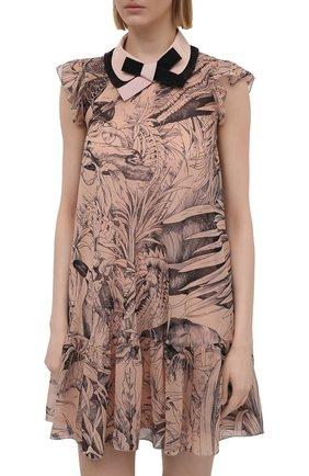 Женское шелковое платье REDVALENTINO разноцветного цвета, арт. VR0VAAC5/5SQ | Фото 3