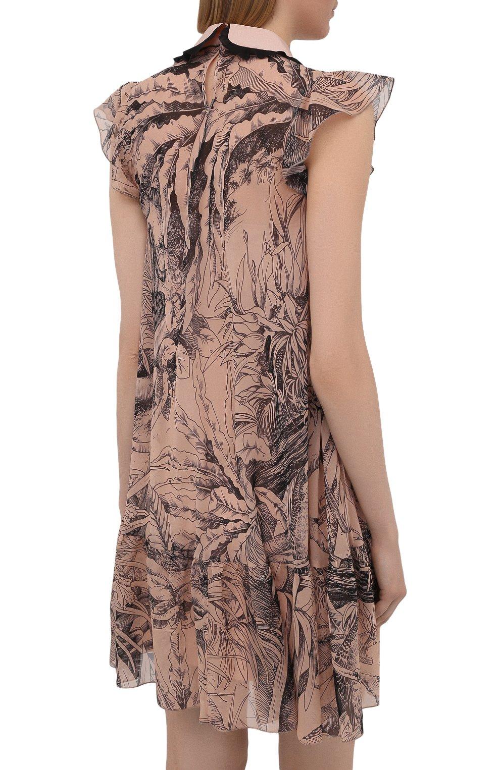 Женское шелковое платье REDVALENTINO разноцветного цвета, арт. VR0VAAC5/5SQ | Фото 4