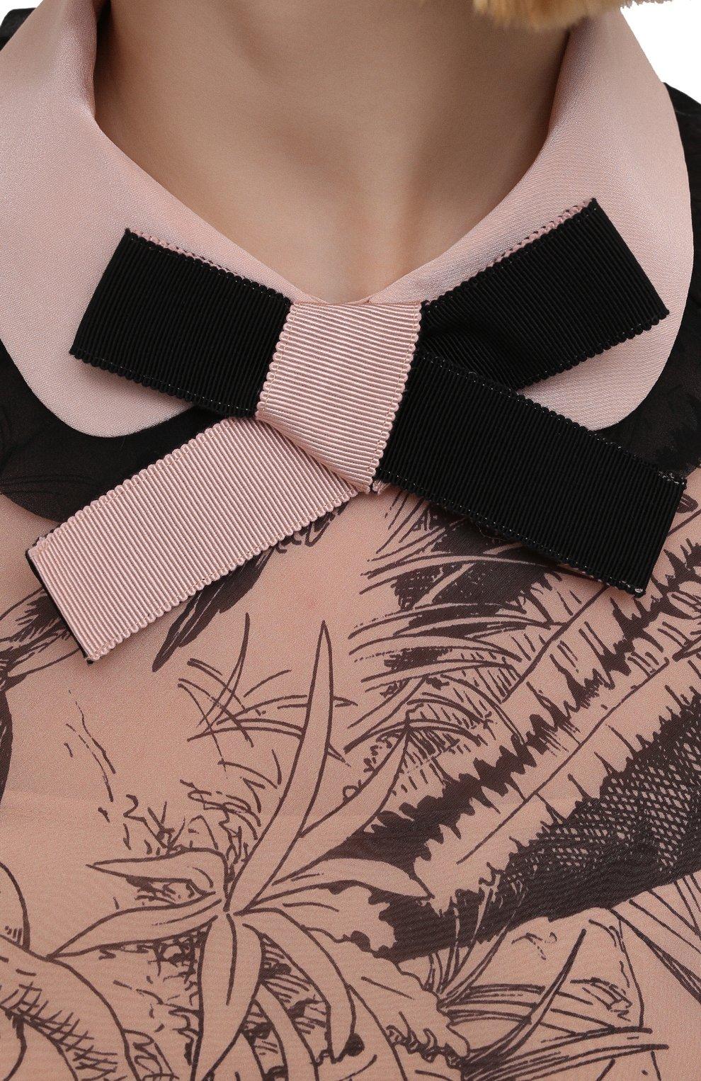 Женское шелковое платье REDVALENTINO разноцветного цвета, арт. VR0VAAC5/5SQ | Фото 5