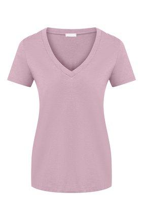 Женская футболка HANRO светло-розового цвета, арт. 077876 | Фото 1