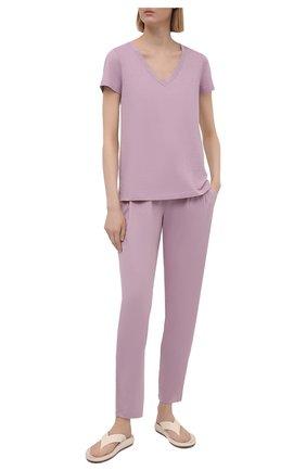 Женская футболка HANRO светло-розового цвета, арт. 077876 | Фото 2