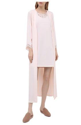 Женская хлопковая сорочка HANRO светло-розового цвета, арт. 076829 | Фото 2