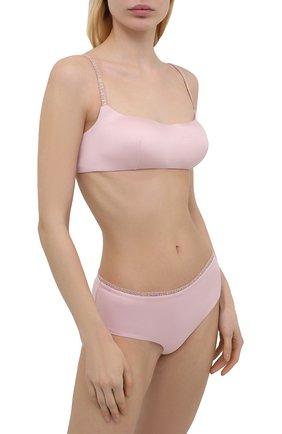 Женские трусы-шорты LA PERLA розового цвета, арт. 0043640 | Фото 2