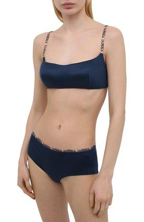 Женские трусы-шорты LA PERLA темно-синего цвета, арт. 0043640 | Фото 2