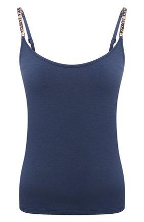 Женская шелковый топ LA PERLA синего цвета, арт. 0043860 | Фото 1