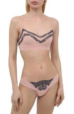 Женские трусы-стринги LA PERLA розового цвета, арт. 0051760 | Фото 2