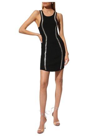 Женское платье из вискозы BALMAIN черного цвета, арт. VF0R4040/KA00 | Фото 2