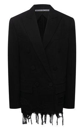 Женский хлопковый жакет ALEXANDER WANG черного цвета, арт. 1WC2212253 | Фото 1