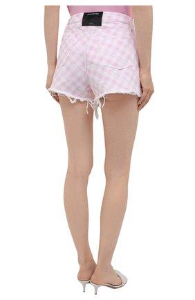Женские джинсовые шорты DENIM X ALEXANDER WANG розового цвета, арт. 4DC2214939   Фото 4 (Женское Кросс-КТ: Шорты-одежда; Кросс-КТ: Деним; Длина Ж (юбки, платья, шорты): Мини; Стили: Гранж; Материал внешний: Хлопок)