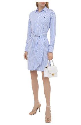 Женское хлопковое платье POLO RALPH LAUREN синего цвета, арт. 211781122   Фото 2