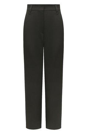 Женские хлопковые брюки BRUNELLO CUCINELLI хаки цвета, арт. MP017P7706 | Фото 1 (Силуэт Ж (брюки и джинсы): Прямые; Женское Кросс-КТ: Брюки-одежда; Материал внешний: Хлопок; Стили: Кэжуэл; Длина (брюки, джинсы): Укороченные)