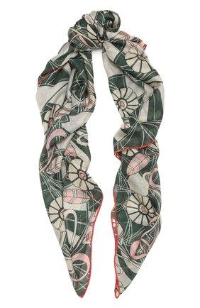 Женская шаль из кашемира и шелка LORO PIANA зеленого цвета, арт. FAL7768 | Фото 1 (Материал: Текстиль, Шерсть, Шелк, Кашемир)