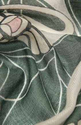 Женская шаль из кашемира и шелка LORO PIANA зеленого цвета, арт. FAL7768 | Фото 2 (Материал: Текстиль, Шерсть, Шелк, Кашемир)