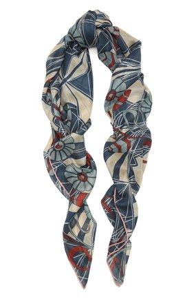Женская шаль из кашемира и шелка LORO PIANA синего цвета, арт. FAL7768   Фото 1