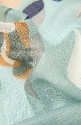 Женская шаль из кашемира и шелка LORO PIANA голубого цвета, арт. FAL7686   Фото 2 (Материал: Шелк, Текстиль, Кашемир, Шерсть)