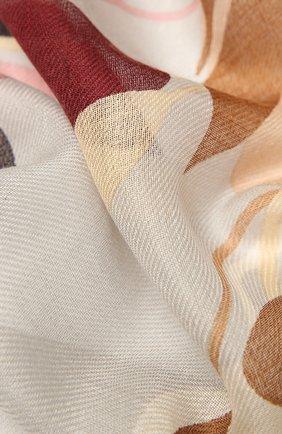 Женская шаль из кашемира и шелка LORO PIANA светло-серого цвета, арт. FAL7686 | Фото 2 (Материал: Шерсть, Кашемир, Шелк, Текстиль)