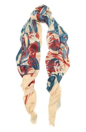 Женская шаль из кашемира и шелка LORO PIANA бежевого цвета, арт. FAL7631   Фото 1
