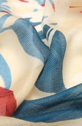 Женская шаль из кашемира и шелка LORO PIANA бежевого цвета, арт. FAL7631   Фото 2