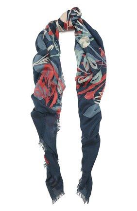 Женская шаль из кашемира и шелка LORO PIANA синего цвета, арт. FAL7631   Фото 1