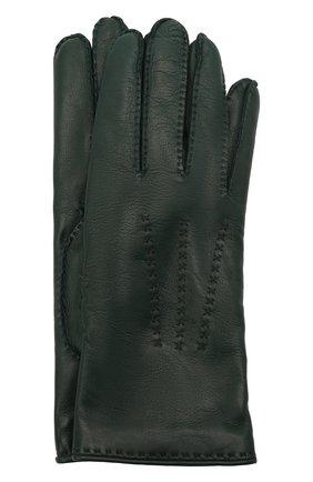 Женские кожаные перчатки LORO PIANA зеленого цвета, арт. FAL2793 | Фото 1