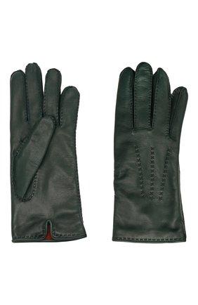 Женские кожаные перчатки LORO PIANA зеленого цвета, арт. FAL2793 | Фото 2