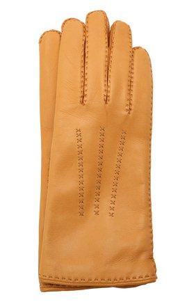 Женские кожаные перчатки LORO PIANA желтого цвета, арт. FAL2793 | Фото 1