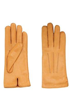 Женские кожаные перчатки LORO PIANA желтого цвета, арт. FAL2793 | Фото 2
