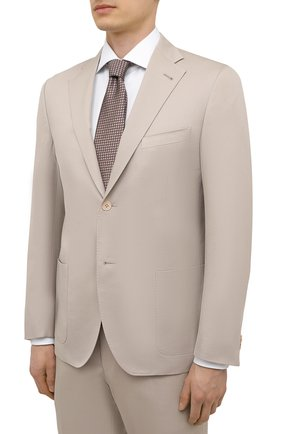 Мужской костюм из хлопка и кашемира CORNELIANI бежевого цвета, арт. 87NY76-1114105/90 | Фото 2