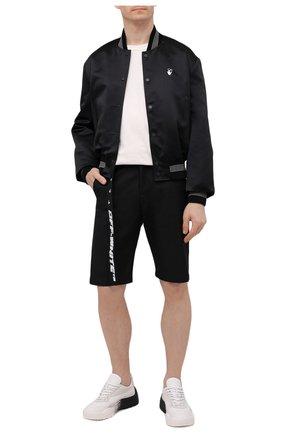Мужские хлопковые шорты OFF-WHITE черного цвета, арт. 0MCB050S21FAB001 | Фото 2