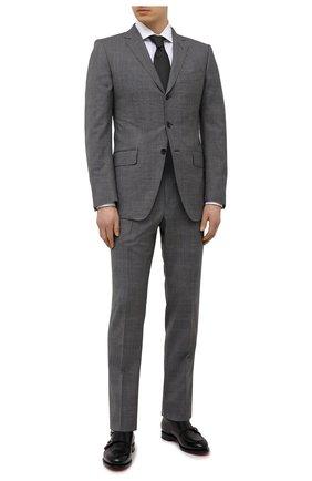 Мужской шерстяной костюм TOM FORD серого цвета, арт. 0RJB18/21454C | Фото 1