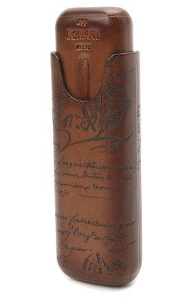 Мужской кожаный футляр для сигар BERLUTI коричневого цвета, арт. X082000 | Фото 2
