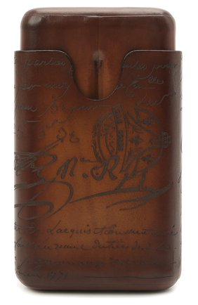 Мужской кожаный футляр для сигар BERLUTI коричневого цвета, арт. X093357 | Фото 1