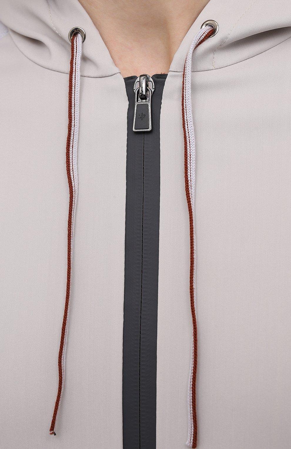Мужской толстовка LORO PIANA серого цвета, арт. FAL6916 | Фото 5