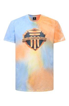 Мужская хлопковая футболка DIEGO VENTURINO разноцветного цвета, арт. SS21-DV TS0 TIEDYE-U | Фото 1