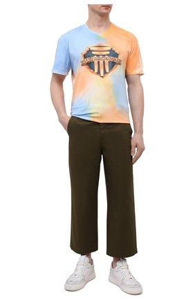 Мужская хлопковая футболка DIEGO VENTURINO разноцветного цвета, арт. SS21-DV TS0 TIEDYE-U | Фото 2