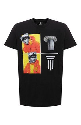 Мужская хлопковая футболка DIEGO VENTURINO черного цвета, арт. SS21-DV TS0 WAMBDM | Фото 1