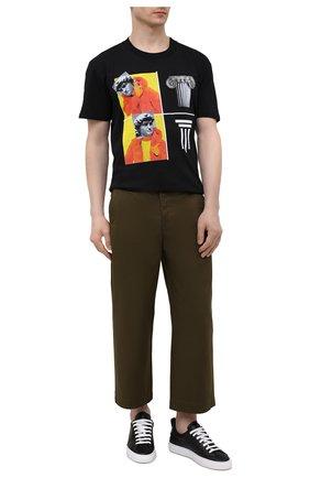 Мужская хлопковая футболка DIEGO VENTURINO черного цвета, арт. SS21-DV TS0 WAMBDM | Фото 2