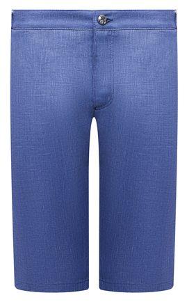 Мужские льняные шорты ZILLI SPORT синего цвета, арт. M0V-D0171-LIN01/S001   Фото 1