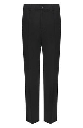 Мужские брюки VALENTINO темно-серого цвета, арт. WV3RBG917N1 | Фото 1 (Длина (брюки, джинсы): Стандартные; Случай: Повседневный; Материал внешний: Шерсть, Синтетический материал; Стили: Кэжуэл)