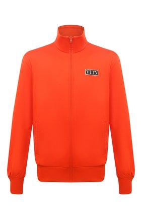 Мужской толстовка VALENTINO оранжевого цвета, арт. WV3MF19Q7ML | Фото 1 (Материал внешний: Хлопок, Синтетический материал; Стили: Спорт-шик; Длина (для топов): Стандартные; Рукава: Длинные; Мужское Кросс-КТ: Толстовка-одежда)