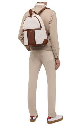 Мужской комбинированный рюкзак SERAPIAN кремвого цвета, арт. SRCANMLL692431D | Фото 2