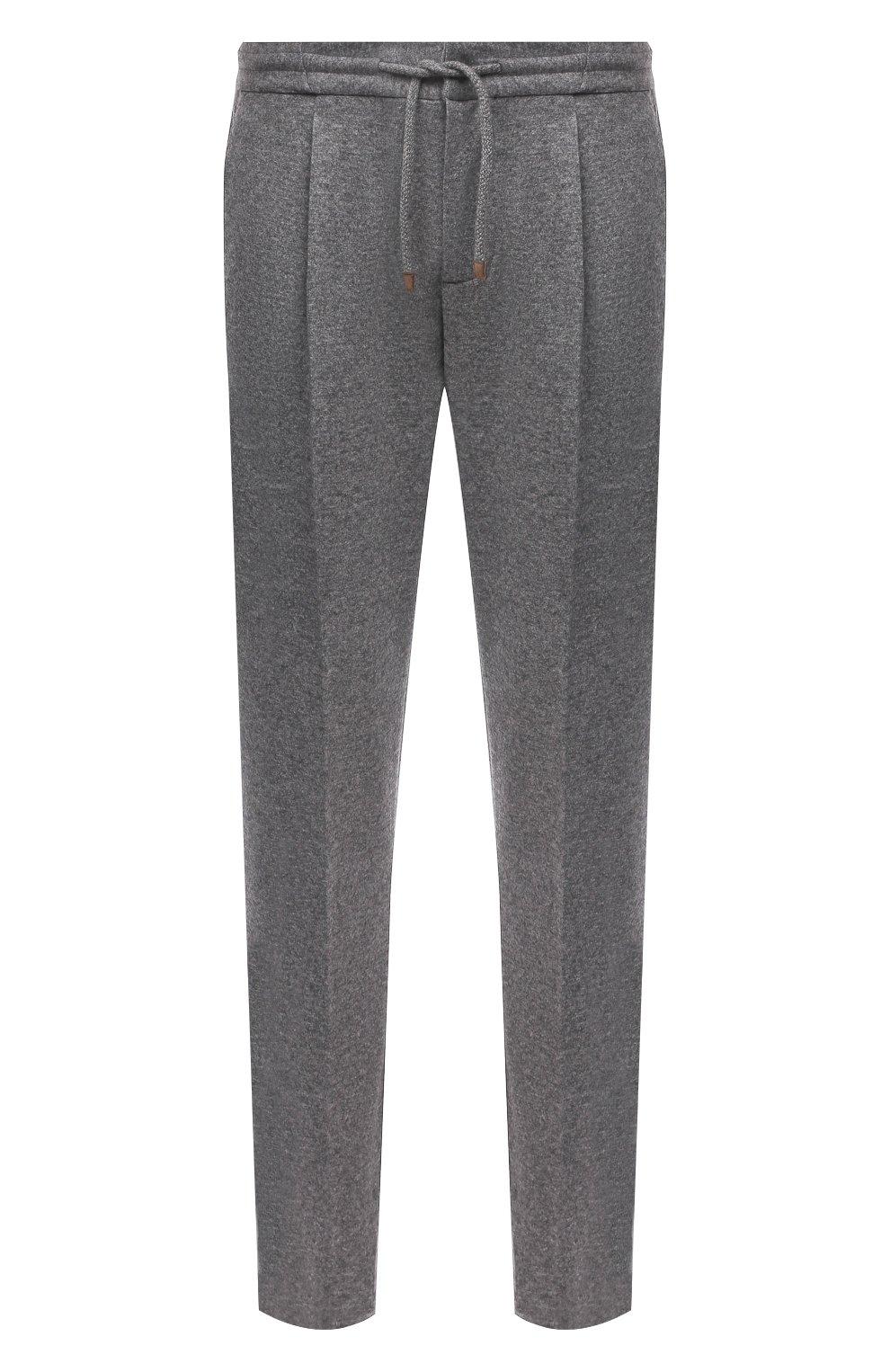 Мужские кашемировые брюки BRUNELLO CUCINELLI серого цвета, арт. ML896E1790 | Фото 1