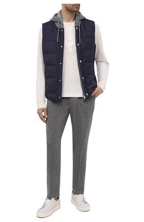 Мужские кашемировые брюки BRUNELLO CUCINELLI серого цвета, арт. ML896E1790 | Фото 2